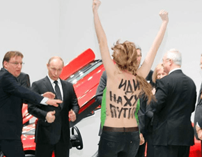 Photo Op of the Day: Putin Says He Liked Protest by Topless Women
