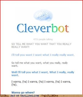 Damn it, CleverBot!