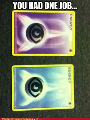 Misprint Pokémon Energy Card