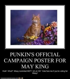 PUNKIN'S OFFICIAL CAMPAIGN POSTER FOR MAY KING
