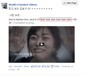 Bing Translate Fail