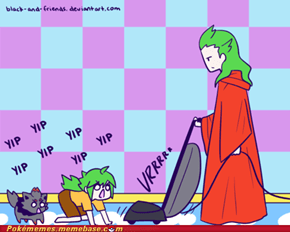 Ghetsis Vacuums N's Room...