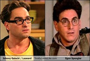 Johnny Galecki / Leonard Totally Looks Like Egon Spengler