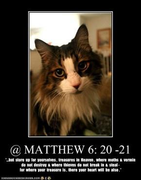 @ MATTHEW 6: 20 -21