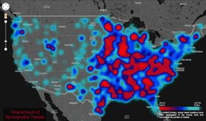 Stats Pr0n of the Day: U.S. Map of Internet Hate Speech