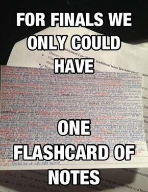 You Might as Well Just Turn in the Flashcard