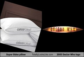 Super Sides pillow Totally Looks Like 2005 Doctor Who logo