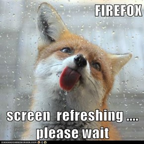 FIREFOX  screen  refreshing .... please wait