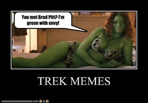 You met Brad Pitt? I'm green with envy!