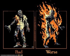 Fire is not effective vs. Undead.