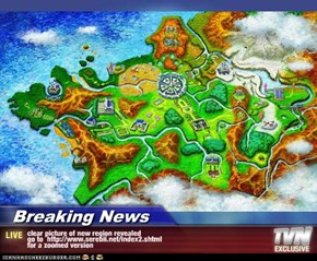 Breaking News - clear picture of new region revealed go to  http://www.serebii.net/index2.shtml for a zoomed version