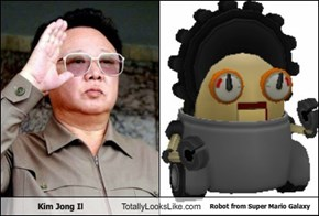 Kim Jong Il Totally Looks Like Robot from Super Mario Galaxy