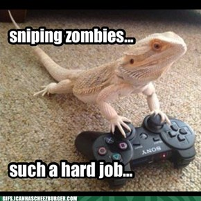 sniping zombies...