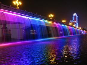 Lighting Up the Banpo Bridge, Seoul