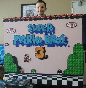 Super Mario Brothers 3 Menu Made With Beads