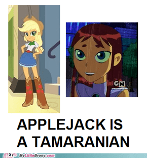 Applejack is best Teen Titan!
