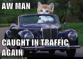 AW MAN  CAUGHT IN TRAFFIC AGAIN
