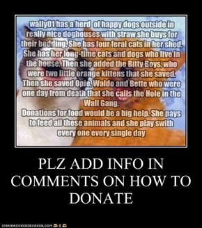 PLZ ADD INFO IN COMMENTS ON HOW TO DONATE