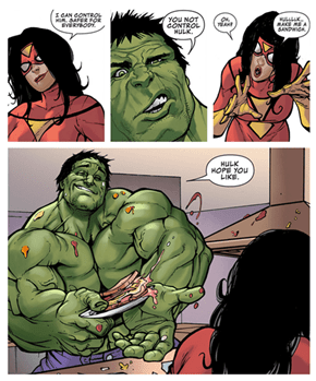 Hulk, Makes a Mean PB&J