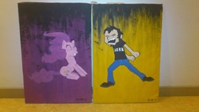 Dan vs pinkie paint