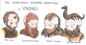 The Increasingly Eccentric Hairstyles of Vikings