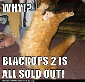 WHY!?  BLACKOPS 2 IS ALL SOLD OUT!