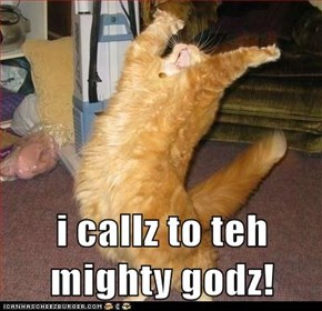 i callz to teh mighty godz!