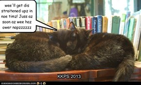 Boscoe and Kibby volunteer to help Cinderelly put the library back in order, but being co-kinks is very tiring...