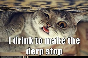 I drink to make the derp stop