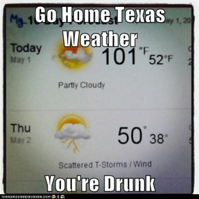 Go Home Texas Weather  You're Drunk