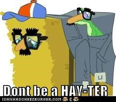 Dont be a HAY-TER