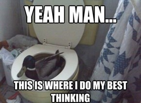 That Bathroom is Fowl