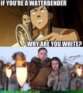Oh my God, Korra you can't just ask people why they're white!