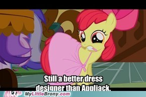Referring Applejack being Rarity