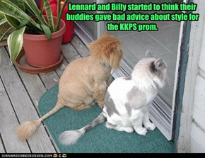 Lennard and Billy started to think their buddies gave bad advice about style for the KKPS prom.