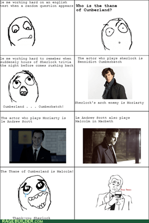 Thank-you Sherlock, you gorgeous time-waster!