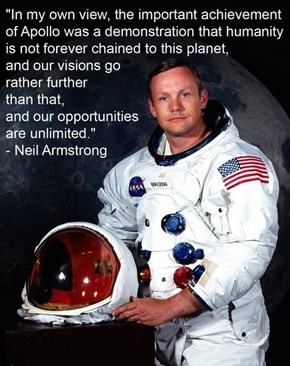 Neil Armstrong Was a True Believer