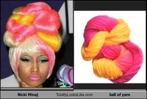 Nicki Minaj Totally Looks Like ball of yarn