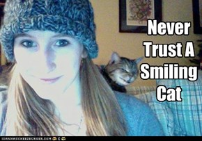 Never Trust A Smiling Cat
