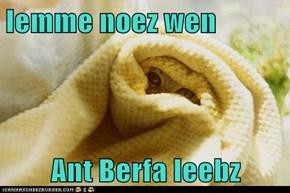 lemme noez wen  Ant Berfa leebz