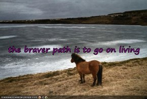 the braver path is to go on living