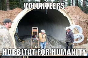 VOLUNTEERS   HOBBITAT FOR HUMANITY