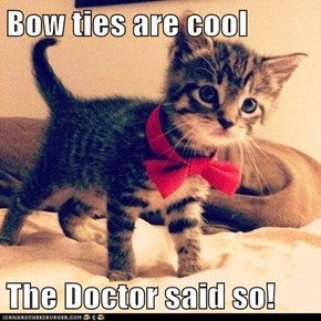 Bow ties are cool  The Doctor said so!