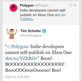 Tim Schafer's Response to the Xbox One Not Letting Developers Self-Publish Games