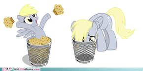 Derpy Get Out Of My Trash!