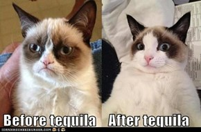 Before tequila    After tequila