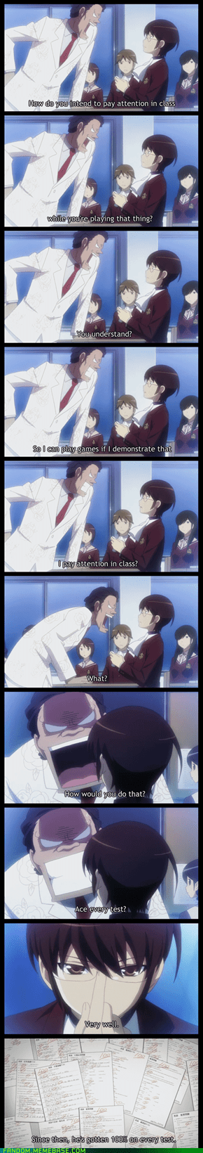 Keima, one of Anime's #1 Smartasses