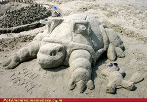 Blastoise used.......Sand Attack?