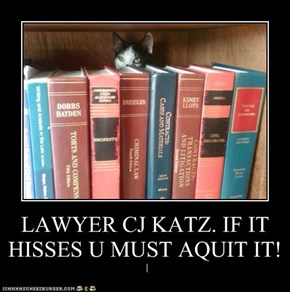 LAWYER CJ KATZ. IF IT HISSES U MUST AQUIT IT!