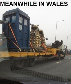 There I have corrected it for you, Dr Who is filmed in Cardiff, Wales